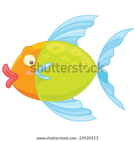 illustration of a fish swimming