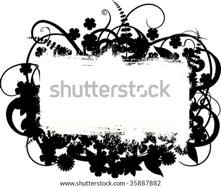 illustration of a floral banner with space for your text