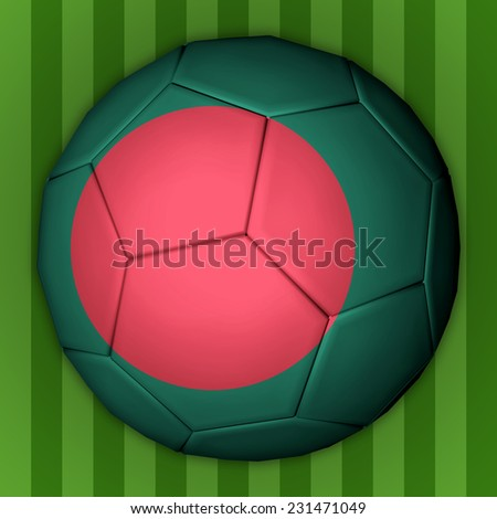Illustration of a football with flag inside - Bangladesh - stock photo