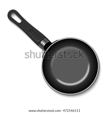 Illustration of a frying pan isolated on a white background.