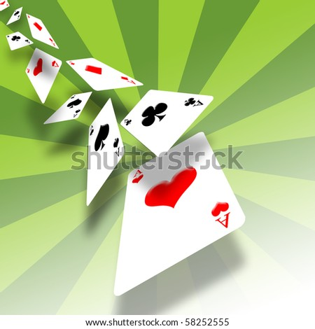 Illustration of a gambling card - stock photo