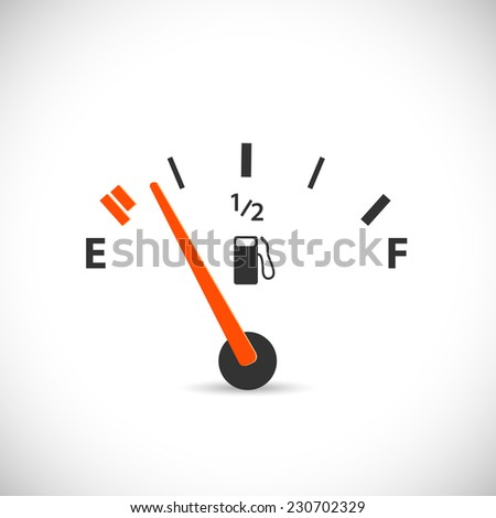 Illustration of a gas gage isolated on a white background. - stock photo