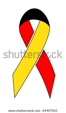Illustration of a Germany ribbon
