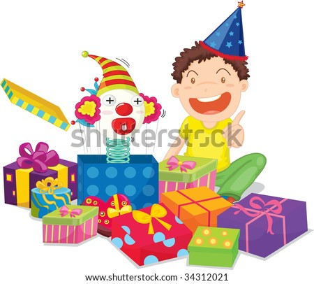 Illustration of  a gift boxes on white - vector EPS of this image also available in my portfolio