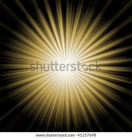 Illustration of a goldy shiny burst - stock photo