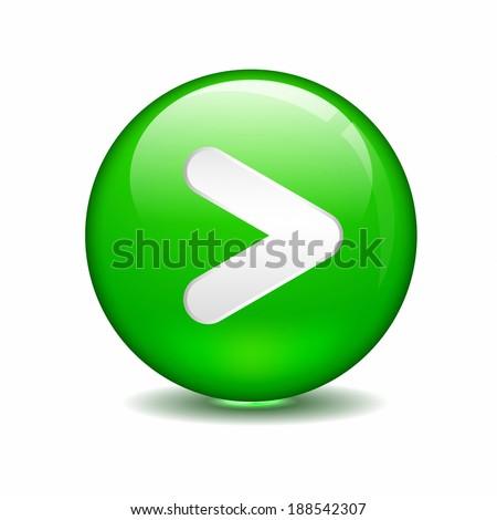 Illustration Greater Than Sign Green Circle Stock Illustration