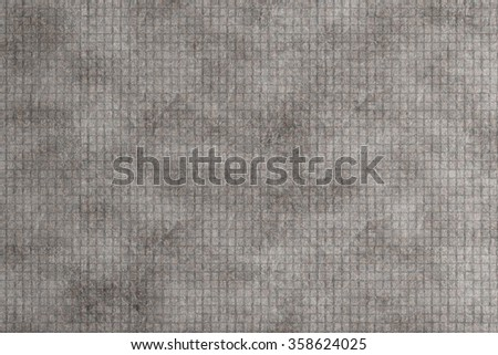 Illustration of a grey wall made of glazed tile. - stock photo