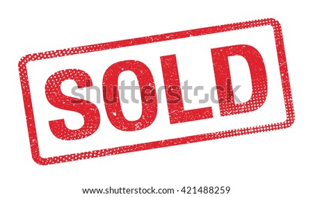 Illustration of a grunge rubber ink stamp sold - stock photo