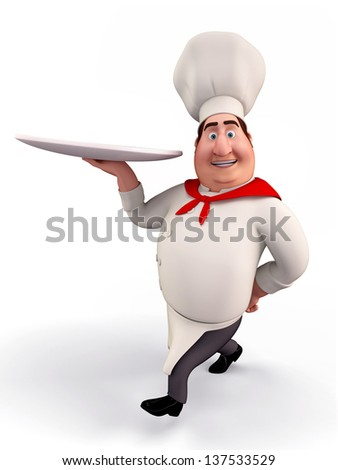 Illustration of a kitchen chef