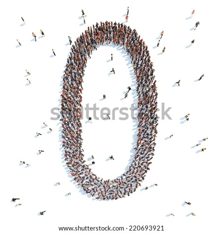illustration of a letter with people - stock photo