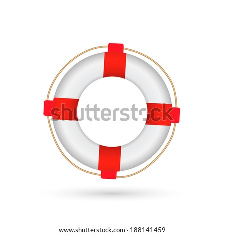 Illustration of a life preserver isolated on a white background.