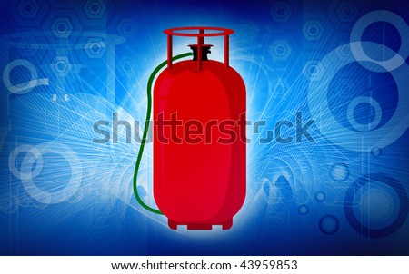 Illustration of a LPG cylinder - stock photo