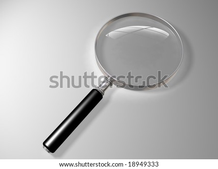 Illustration of a magnifying glass on a plain background