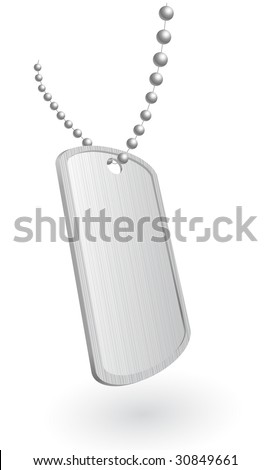 Illustration of a military aluminum plate. Vector in my portfolio