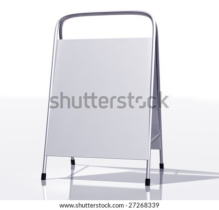 Illustration of a modern blank sandwich board - stock photo
