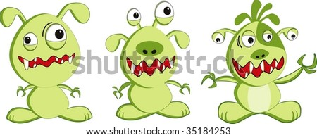 illustration of a monsters cartoon