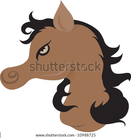 Illustration of a muscular horse