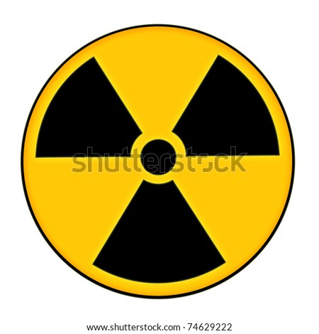 Illustration of a nuclear alert sign.