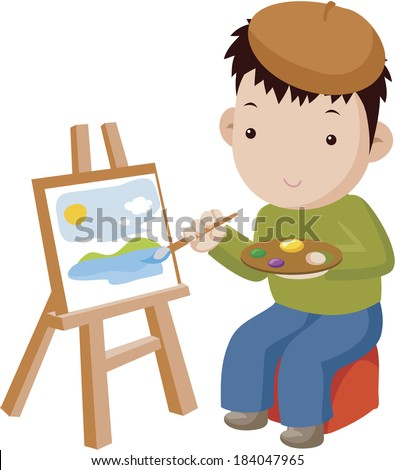 Illustration of a painter