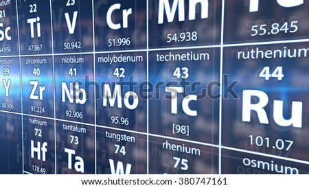 Illustration of A part of Periodic table of elements. - stock photo