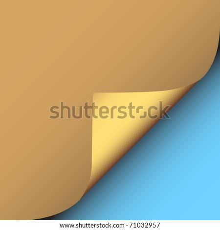 Illustration of a peeling corner of brown paper