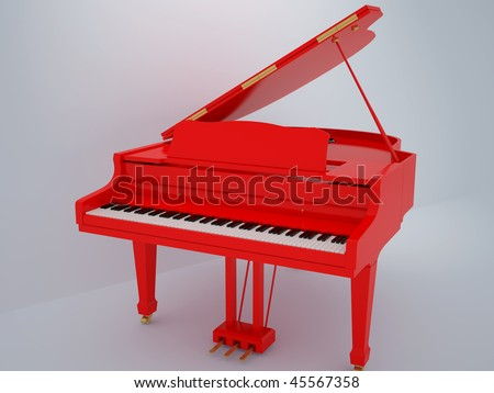 Illustration of a piano. High resolution image. 3d illustration.