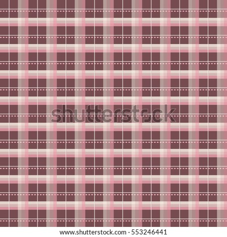 Illustration of a pink and chocolate brown plaid patter./ Pink and Chocolate Brown Plaid