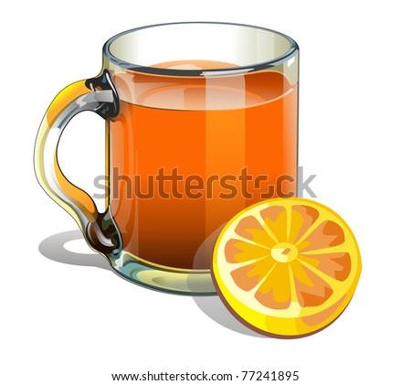 illustration of a pitcher of orange juice - stock photo