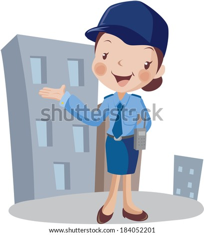 Illustration of a police officer - stock photo