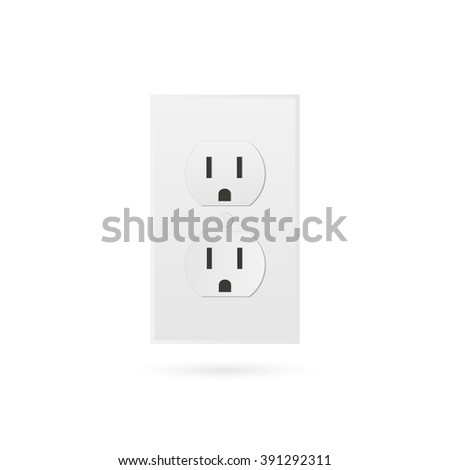 Illustration of a power outlet isolated on a white background. - stock photo