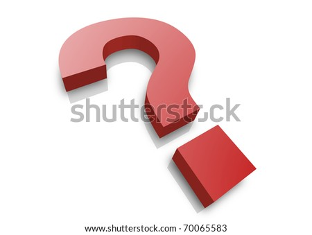 illustration of a question mark - stock photo
