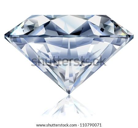 Illustration of a realistic diamond - raster version - stock photo