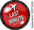 illustration of a red last minute button - stock photo