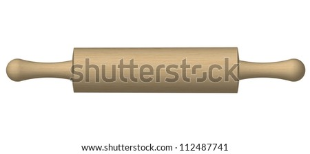 Illustration of a rolling pin - stock photo