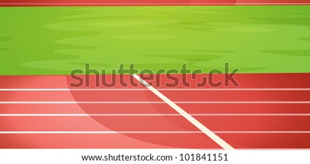Illustration of a running track - EPS VECTOR format also available in my portfolio. - stock photo
