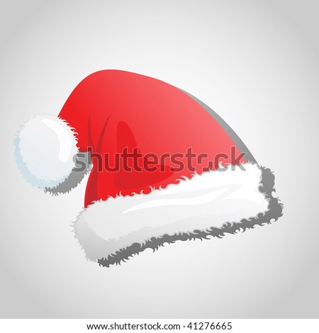 Illustration of a santa's christmas hat