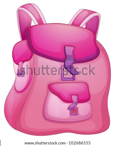 Illustration of a school bag on white - EPS VECTOR format also available in my portfolio. - stock photo