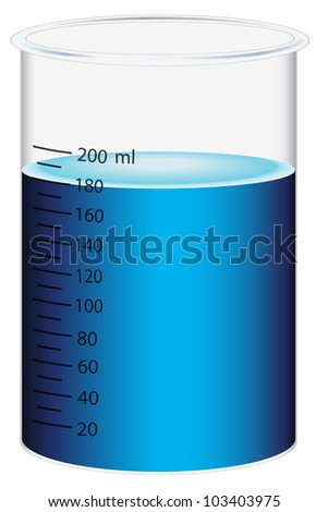 Illustration of a scientific beaker - EPS VECTOR format also available in my portfolio.