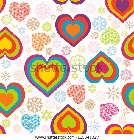 illustration of a seamless heart pattern. Valentine's Day theme - stock photo