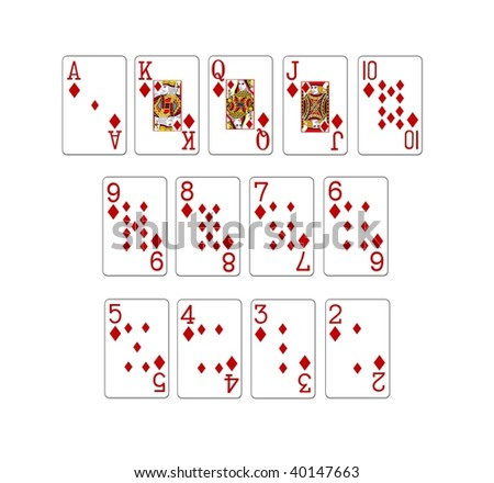 illustration of a set of poker cards