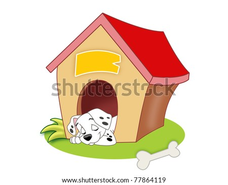 Illustration of a small house for a dog