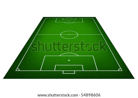Illustration of a soccer field. (Original style) - stock photo