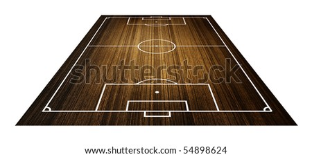 Illustration of a soccer field. (Wood pattern)