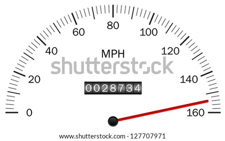 Illustration of a speedometer - stock photo