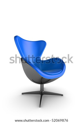Illustration of a stylish designer chair on a white background - stock photo