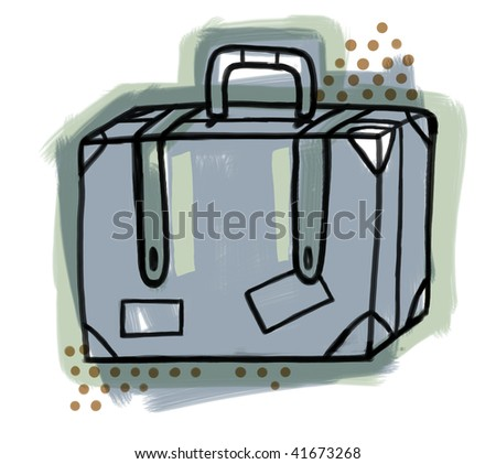 Illustration of a suitcase. - stock photo