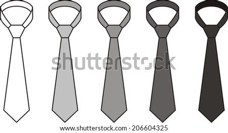Illustration of a tie. Different colors. Raster version - stock photo