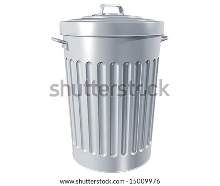 Illustration of a traditional trashcan