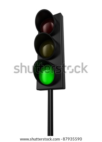 Illustration of a traffic light with green colour