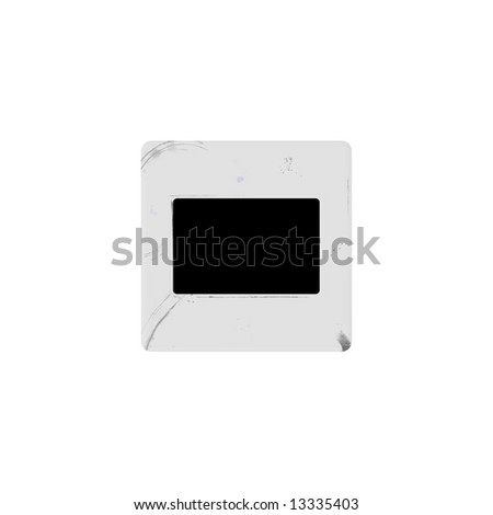 Illustration of a vintage diapositive blank border - stock photo